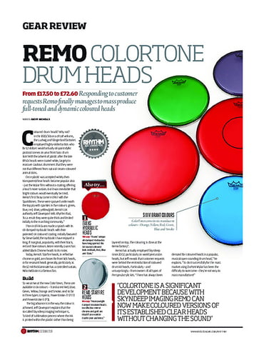 Rhythm Remo ColorTone Drum Heads