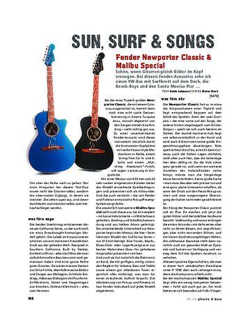 Gitarre & Bass Fender Newporter Classic & Malibu Special