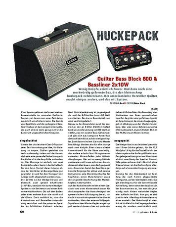 Gitarre & Bass Quilter Bass Block 800 & Bassliner 2x10W