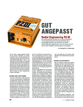 Gitarre & Bass Radial Engineering PZ-DI