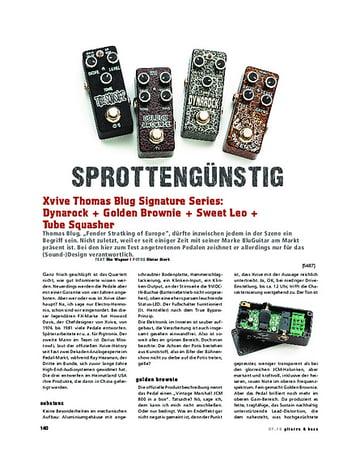 Gitarre & Bass Xvive Thomas Blug Signature Series