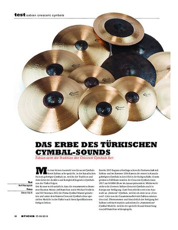 Sticks Sabian Crescent Cymbals