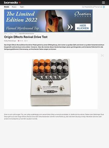 Bonedo.de Origin Effects Revival Drive