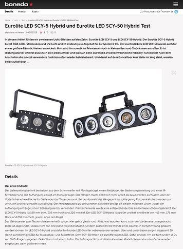 Bonedo.de Eurolite LED SCY-5 Hybrid und Eurolite LED SCY-50 Hybrid