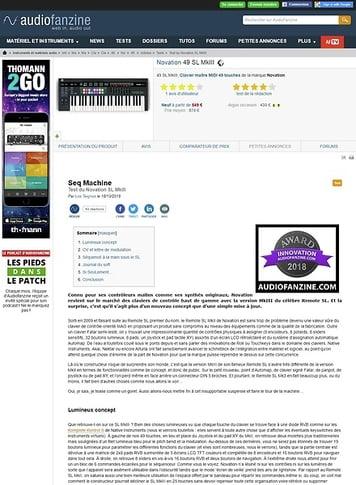 Audiofanzine.com Novation 49 SL MkIII