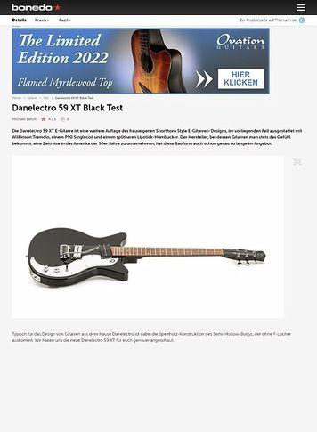 Bonedo.de Danelectro 59 XT Black
