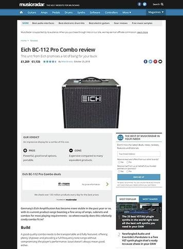 MusicRadar.com Eich BC-112 Pro Combo