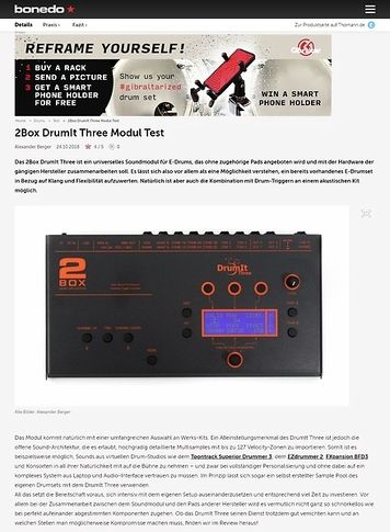 Bonedo.de 2Box DrumIt Three Modul