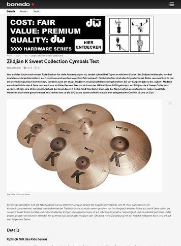 Bonedo.de Zildjian K Sweet Collection Cymbals