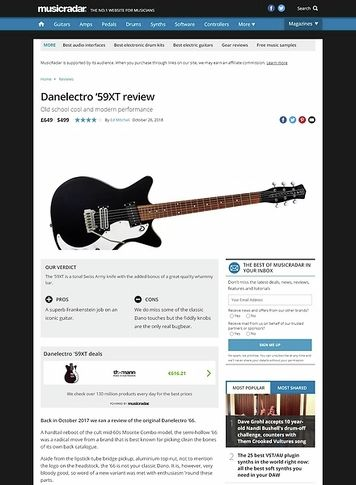 MusicRadar.com Danelectro '59XT