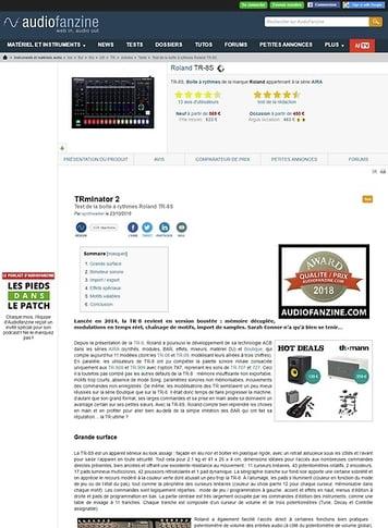Audiofanzine.com Roland TR-8S