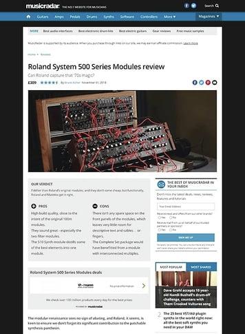 MusicRadar.com Roland System 500 Series Modules