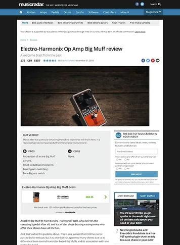 MusicRadar.com Electro-Harmonix Op Amp Big Muff