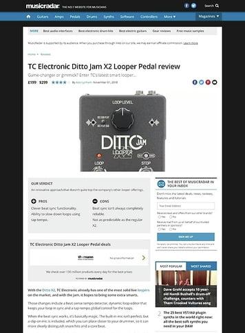 MusicRadar.com TC Electronic Ditto Jam X2 Looper Pedal