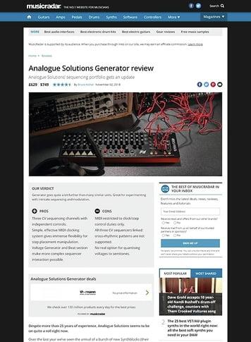 MusicRadar.com Analogue Solutions Generator