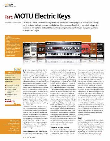 Beat Test: MOTU Electric Keys