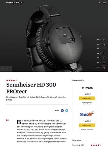 Kopfhoerer.de Sennheiser HD-300 PROtect