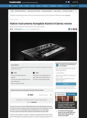 MusicRadar.com Native Instruments Komplete Kontrol A-Series