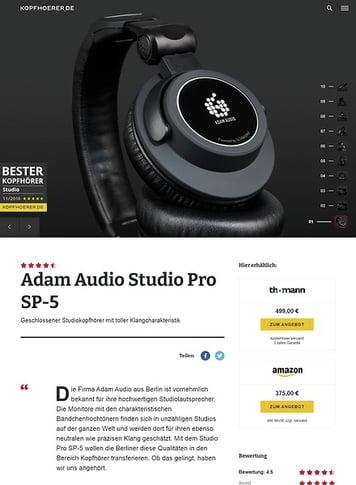 Kopfhoerer.de Adam Studio Pro SP-5