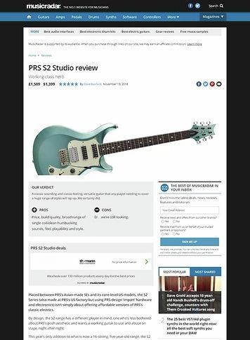 MusicRadar.com PRS S2 Studio