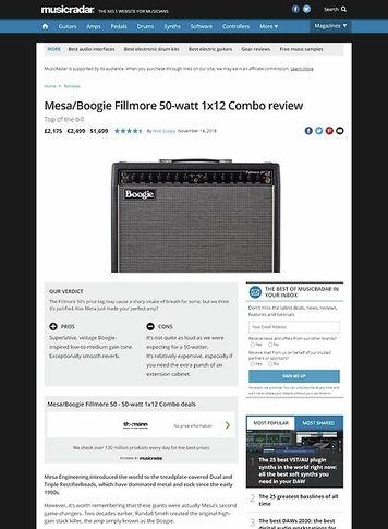 MusicRadar.com Mesa/Boogie Fillmore 50-watt 1x12 Combo