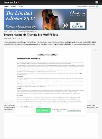 Bonedo.de Electro Harmonix Triangle Big Muff PI