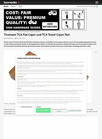Bonedo.de Thomann TCA Flat Cajon und TCA Travel Cajon