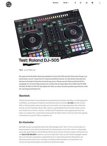 DJLAB Roland DJ-505