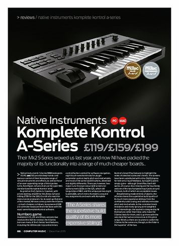 Computer Music Native Instruments Komplete Kontrol A-Series