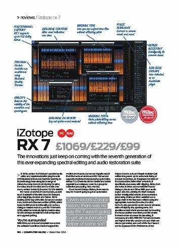 Computer Music iZotope RX 7