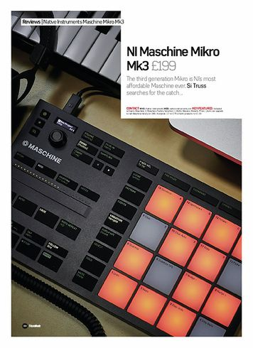 Future Music NI Maschine Mikro Mk3