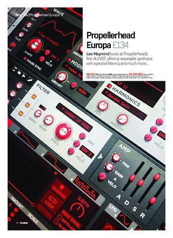 Future Music Propellerhead Europa