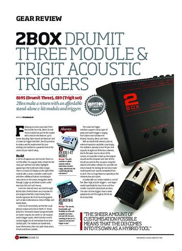 Rhythm 2Box Drumit Three Module & Trigit Acoustic Triggers