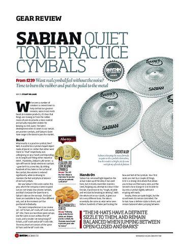 Rhythm Sabian Quiet Tone Practice Cymbals