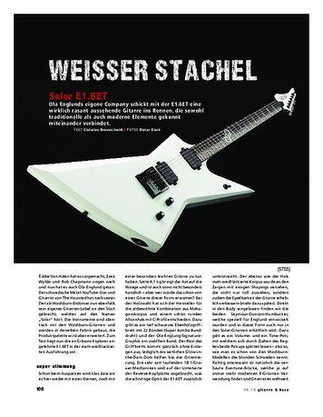 Gitarre & Bass Solar E1.6ET