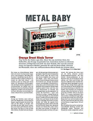 Gitarre & Bass Orange Brent Hinds Terror