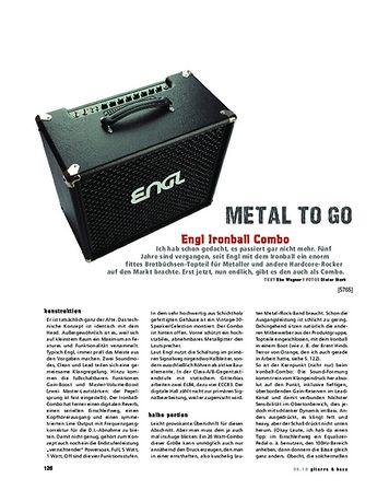 Gitarre & Bass Engl Ironball Combo