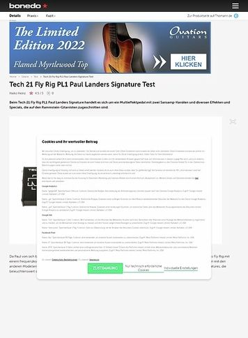 Bonedo.de Tech 21 Fly Rig PL1 Paul Landers Signature