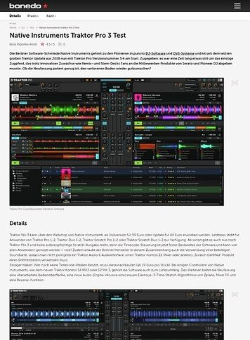 Bonedo.de Native Instruments Traktor Pro 3