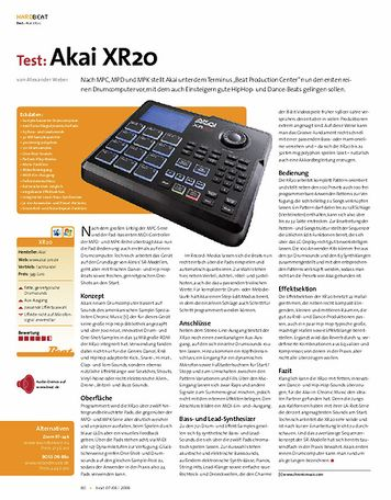 Beat Test: Akai XR20