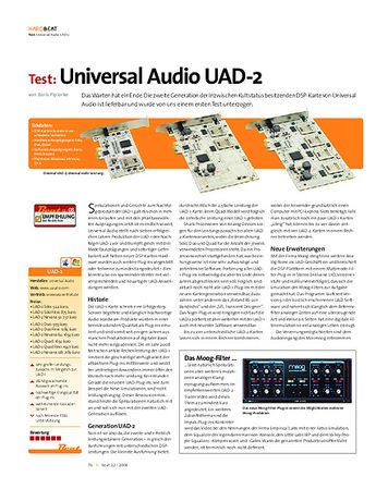 Beat Test: Universal Audio UAD-2