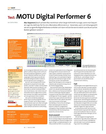 Beat Test: MOTU Digital Performer 6