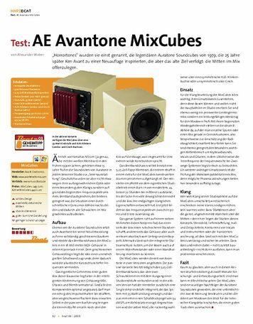 Beat Test: AE Avantone MixCubes