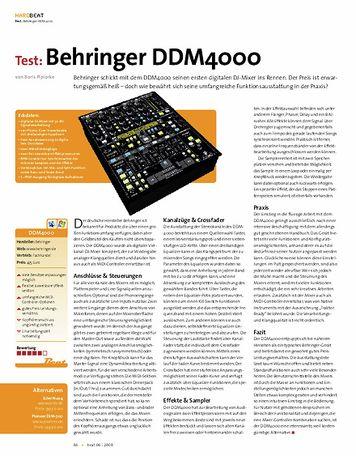 Beat Test: Behringer DDM 4000