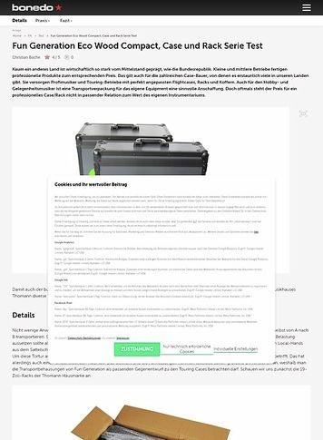 Bonedo.de Fun Generation Eco Wood Compact, Case und Rack Serie