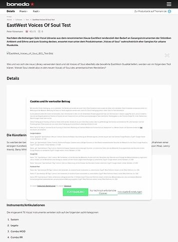 Bonedo.de EastWest Voices Of Soul