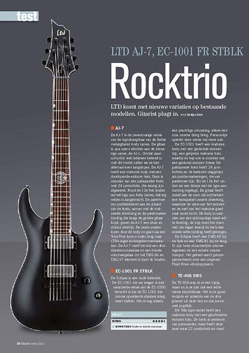 gitarist.nl LTD AJ-7, EC-1001 FR STBLK & TE-406 SWS