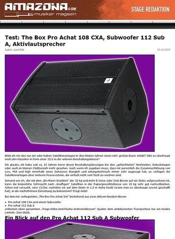 Amazona.de Test: The Box Pro Achat Entertainment Active Set