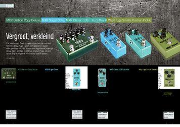 gitarist.nl MXR Carbon Copy Deluxe, MXR Sugar Drive, MXR Classic 108 Fuzz Mini & Way Huge Smalls Russian Pickle