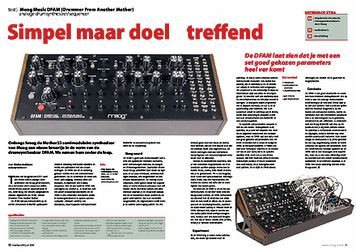 interface.nl Moog Music DFAM (Drummer From Another Mother)